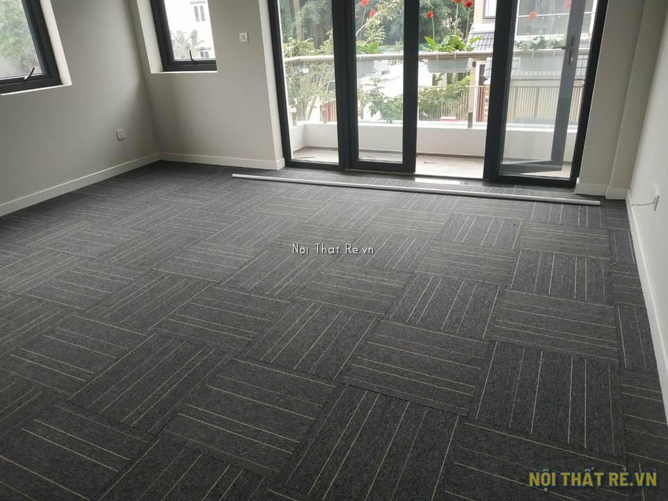 văn phòng làm việc sử dụng thảm tấm ghép MX