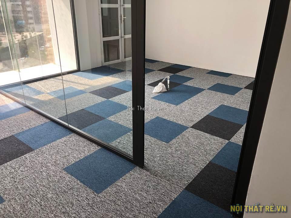 thảm tấm trải sàn kết hợp nhiều màu