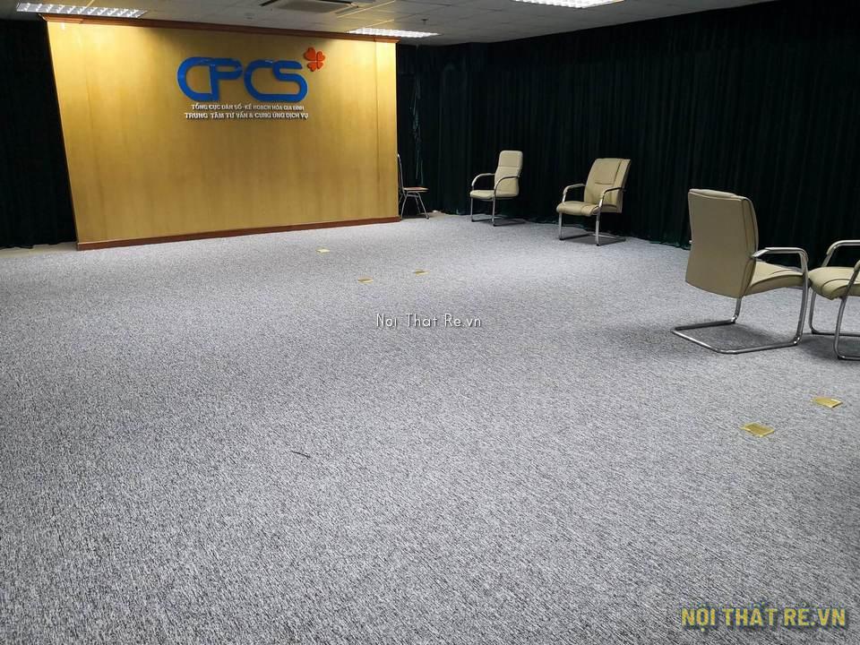 thảm trải sàn phòng hội trường màu ghi xám