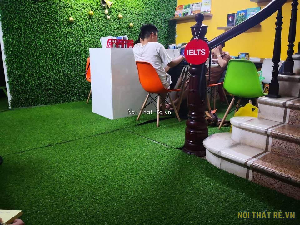 thảm cỏ nhân tạo trang trí trong nhà