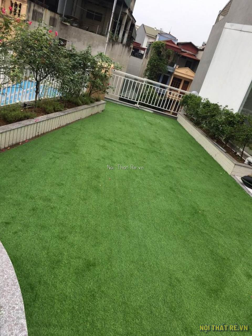 thảm cỏ nhân tạo trải sân vườn